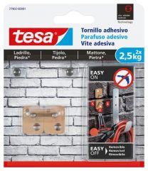 TESA Parafuso adesivo retangular para tijolo e pedra 2,5kg