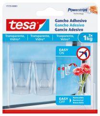 TESA Gancho adesivo para superfícies transparentes e vidro 1 kg