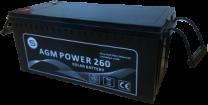 Batería monoblock AGM Saclima 12V 260Ah