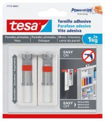 TESA Parafuso adesivo ajustável para parede pintada e estuque 1kg